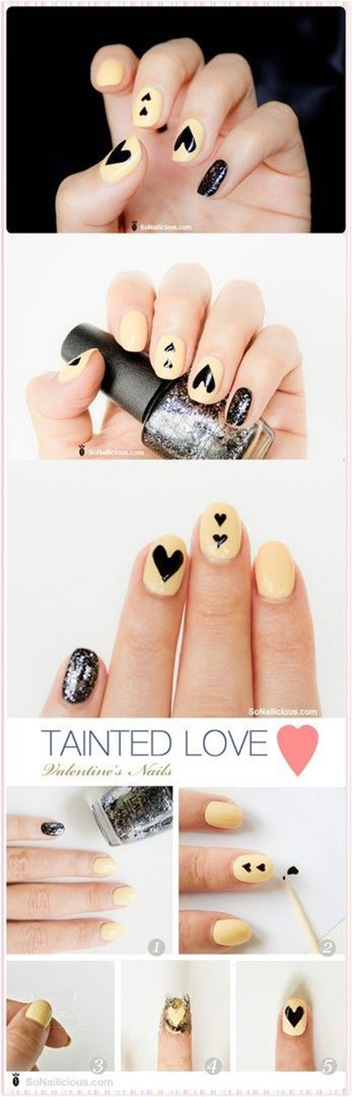 10-Step-By-Step-Valentines-Day-Nail-Art-Tutorials-For-Learners-2017-8