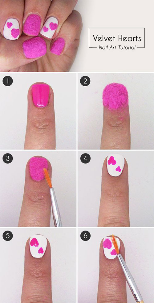 10-Step-By-Step-Valentines-Day-Nail-Art-Tutorials-For-Learners-2017-9