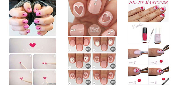 10-Step-By-Step-Valentines-Day-Nail-Art-Tutorials-For-Learners-2017-f