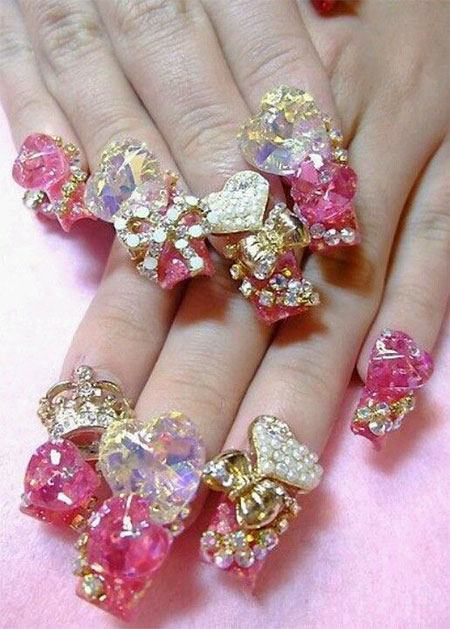 15-Cute-3d-Valentines-Day-Nail-Art-Designs-Ideas-2017-Vday-Nails-1