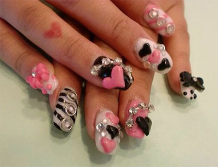 15 cute 3d valentines day nail art designs ideas 2017 vday 15 cute 3d valentines day nail art designs prinsesfo Choice Image