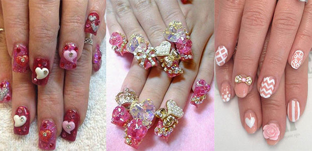 15 Cute 3d Valentine's Day Nail Art Designs & Ideas 2017 | Vday Nails
