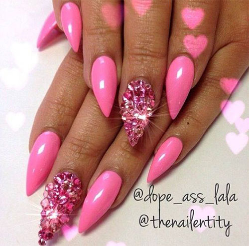 15-Valentines-Day-Acrylic-Nail-Art-Designs-Ideas- - 15+ Valentine's Day Acrylic Nail Art Designs & Ideas 2017 Vday