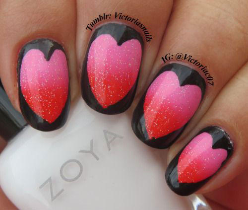 15  Valentine&#39-s Day Heart Nail Art Designs &amp- Ideas 2017 | Vday ...