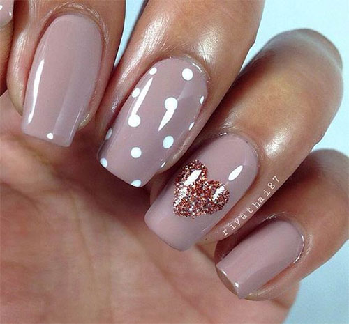 15+ Valentine's Day Heart Nail Art Designs & Ideas 2017 | Vday ...