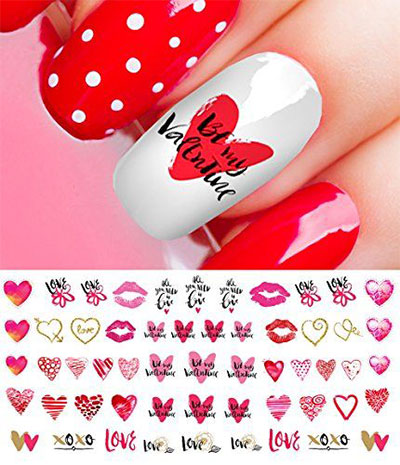 15-Valentines-Day-Nail-Art-Stickers-Decals-2017-3