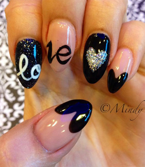 15 valentines day pointy nail art designs ideas 2017 vday 15 valentines day pointy nail art designs ideas prinsesfo Image collections