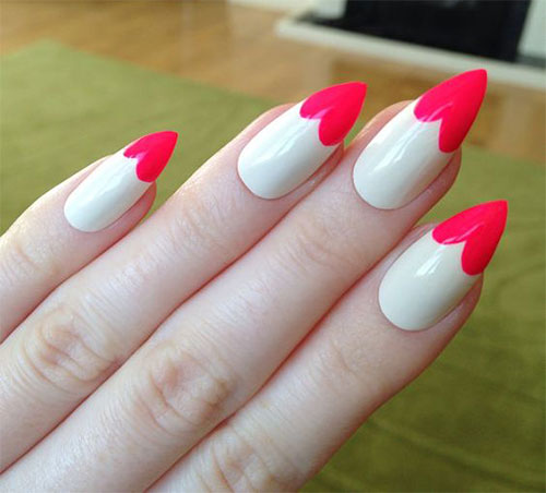 15 Valentine S Day Pointy Nail Art Designs Ideas 2017 Vday