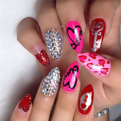 15-Valentines-Day-Pointy-Nail-Art-Designs-Ideas-2017-Vday-Nails-6