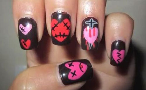 18-Anti-Valentines-Day-Nail-Art-Designs-Ideas-2017-10