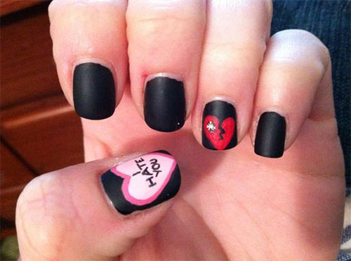 18-Anti-Valentines-Day-Nail-Art-Designs-Ideas-2017-13