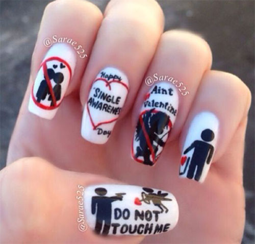 18-Anti-Valentines-Day-Nail-Art-Designs-Ideas-2017-14