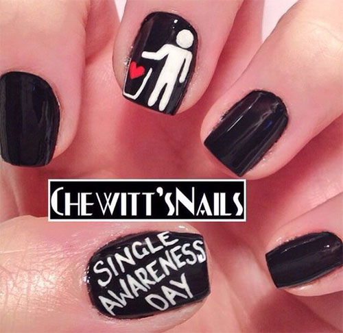 18-Anti-Valentines-Day-Nail-Art-Designs-Ideas-2017-15