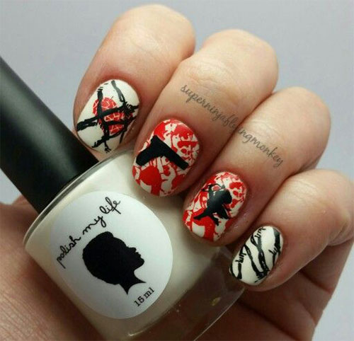18-Anti-Valentines-Day-Nail-Art-Designs-Ideas-2017-2