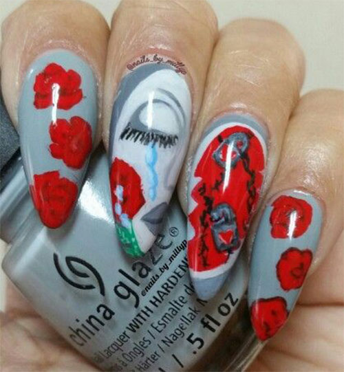 18-Anti-Valentines-Day-Nail-Art-Designs-Ideas-2017-4