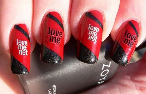 18-Anti-Valentines-Day-Nail-Art-Designs-Ideas-2017-6