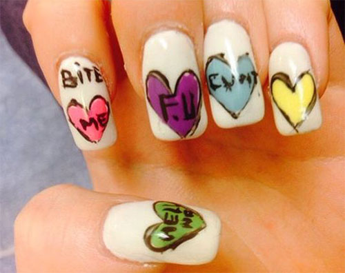 18-Anti-Valentines-Day-Nail-Art-Designs-Ideas-2017-8