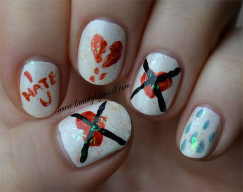 18-Anti-Valentines-Day-Nail-Art-Designs-Ideas-2017-9