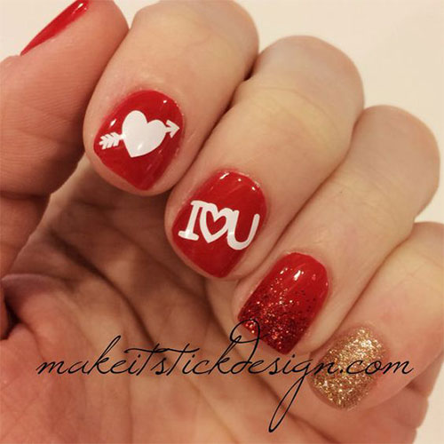 18 Cute Romantic I Love You Nail Art Designs Ideas 2017 Vday