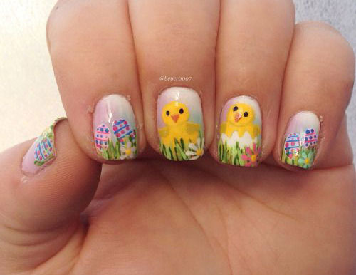 15-Easter-Chick-Nails-Art-Designs-Ideas-2017-13