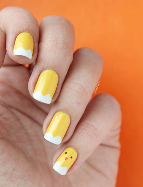 15-Easter-Chick-Nails-Art-Designs-Ideas-2017-15