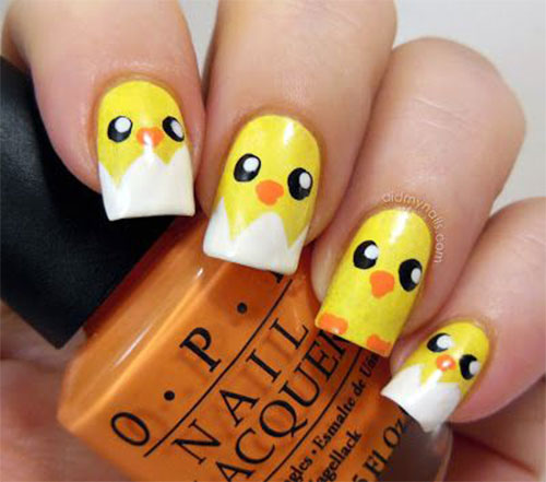 15-Easter-Chick-Nails-Art-Designs-Ideas-2017-4