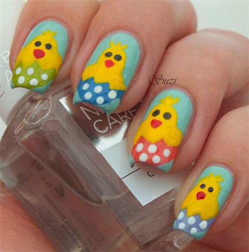 15-Easter-Chick-Nails-Art-Designs-Ideas-2017-6