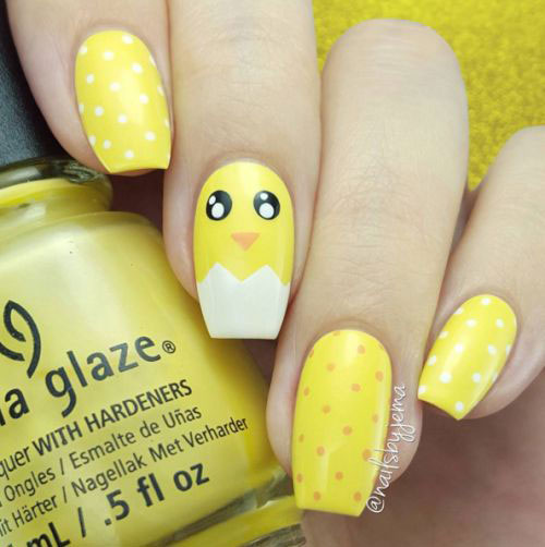15-Easter-Chick-Nails-Art-Designs-Ideas-2017-7