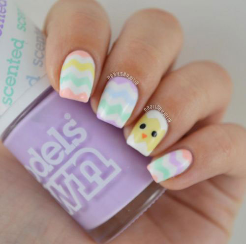 15-Easter-Chick-Nails-Art-Designs-Ideas-2017-8