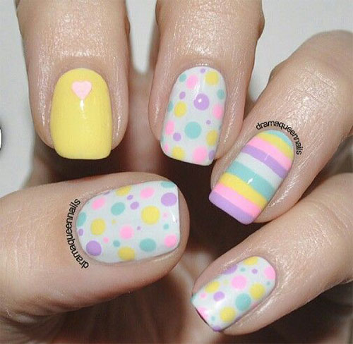 Art Designs: 15 Easter Color Nail Art Designs & Ideas 2017