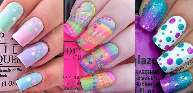 15 Easter Color Nail Art Designs & Ideas 2017