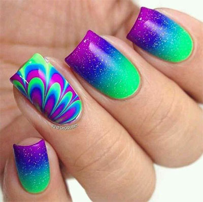 15 Without Water Marble Nails Art Designs Ideas 2017 Fabulous