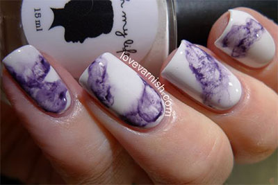 15-Without-Water-Marble-Nails-Art-Designs-Ideas- - 15 Without Water Marble Nails Art Designs & Ideas 2017 Fabulous