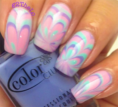 15 Without Water Marble Nails Art Designs Ideas