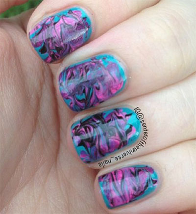 15-Without-Water-Marble-Nails-Art-Designs-Ideas-2017-8