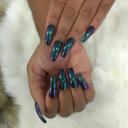 18 Best Chrome Nails Art Designs Ideas 2017
