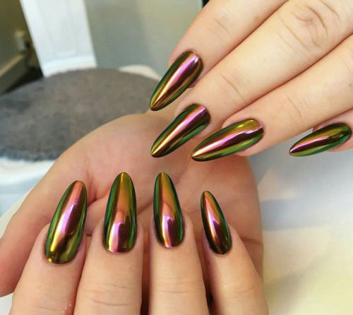 18 Best Chrome Nails Art Designs Amp Ideas 2017 Fabulous Nail Art Designs