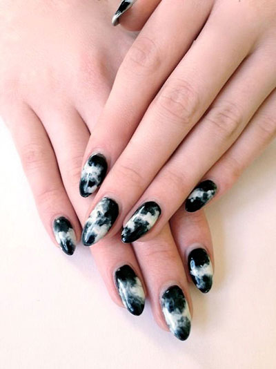 18-Black-Marble-Nails-Art-Designs-Ideas-2017-1