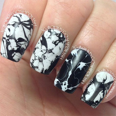 18-Black-Marble-Nails-Art-Designs-Ideas-2017-13