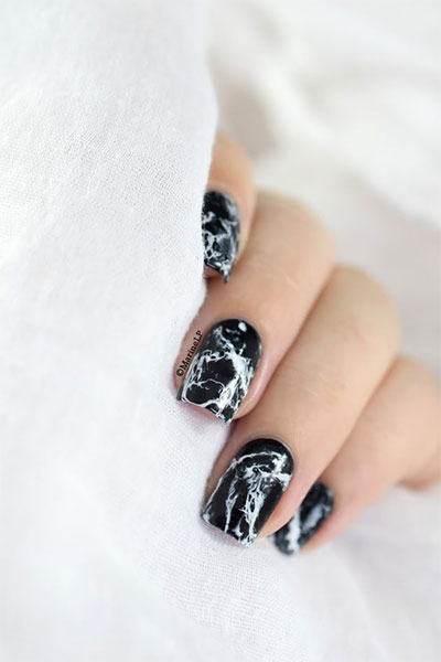 18-Black-Marble-Nails-Art-Designs-Ideas-2017-14