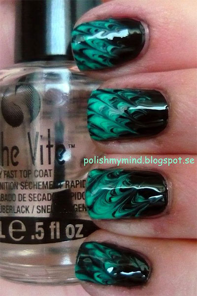 18-Black-Marble-Nails-Art-Designs-Ideas-2017-15