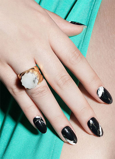 18-Black-Marble-Nails-Art-Designs-Ideas-2017-18