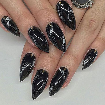 18-Black-Marble-Nails-Art-Designs-Ideas-2017-2