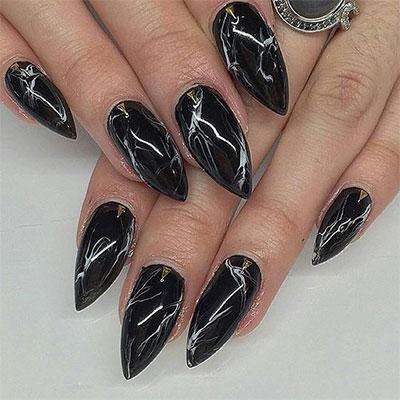 18-Black-Marble-Nails-Art-Designs-Ideas-2017-2