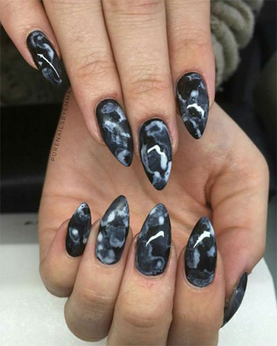 18-Black-Marble-Nails-Art-Designs-Ideas-2017-3