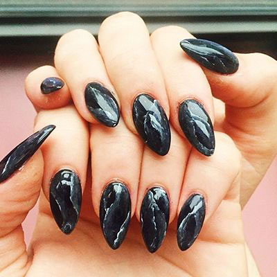 18-Black-Marble-Nails-Art-Designs-Ideas-2017-4