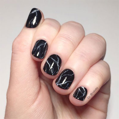 18 Black Marble Nails Art Designs Ideas 2017 Fabulous Nail Art