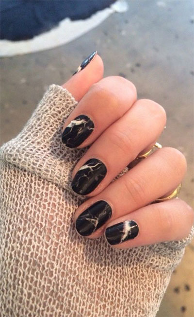 18-Black-Marble-Nails-Art-Designs-Ideas-2017-7