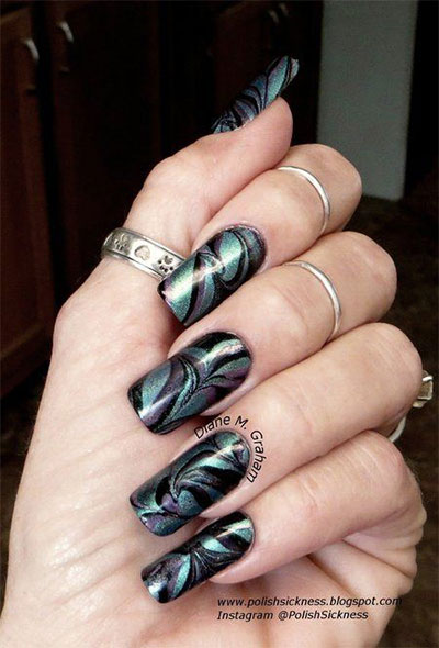 18-Black-Marble-Nails-Art-Designs-Ideas-2017-8