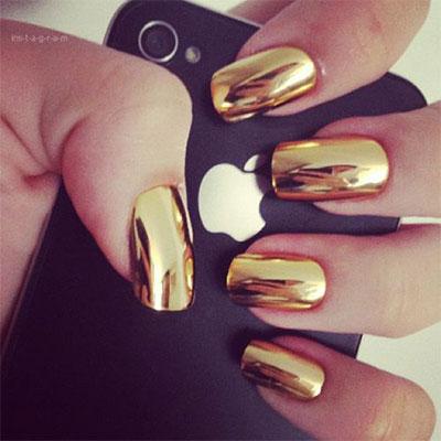 18-Gold-Metallic-Chrome-Nails-Art-Designs-Ideas-2017-4